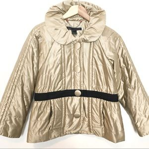 Marc By Marc Jacobs Gold Satin Coat Jacket Small